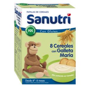 SANUTRI CEREALES 8 CEREALES GALLETA MARIA