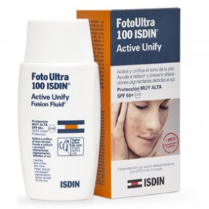 ISDIN SOLAR 100 FOTOULTRA ACTIVE UNIFY 50ML sin color