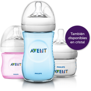 AVENT NATURAL BIBERON AZUL 260ML