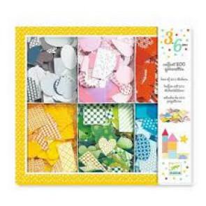 DJECO Parvularios Colores para peques Estuche 800 pegatinas