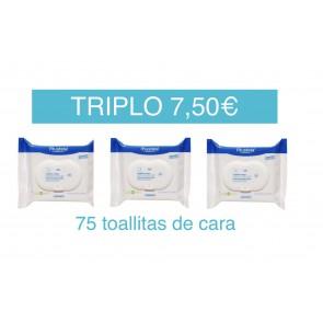 MUSTELA TRIPLO 75 TOALLITAS CARA (3 X 25 UNIDADES)