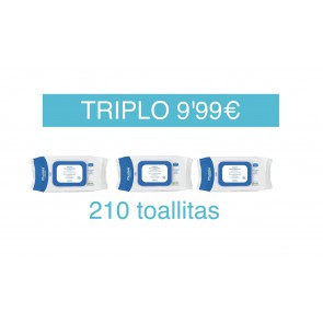 MUSTELA TRIPLO 210 TOALLITAS BEBE (3 X 70 UNIDADES)