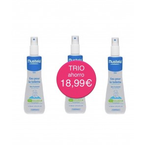 MUSTELA TRIPLO AGUA DE COLONIA SIN ALCOHOL (3 X 200ML)
