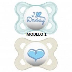 MAM BABY CHUPETE ORIGINAL 0-6 MESES SILICONA 2 UNIDADES