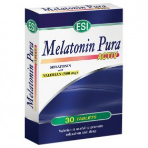 MELATONINA PURA 1.9MG ACTIV CON VALERIANA 500MG 30 TABLETAS ESI